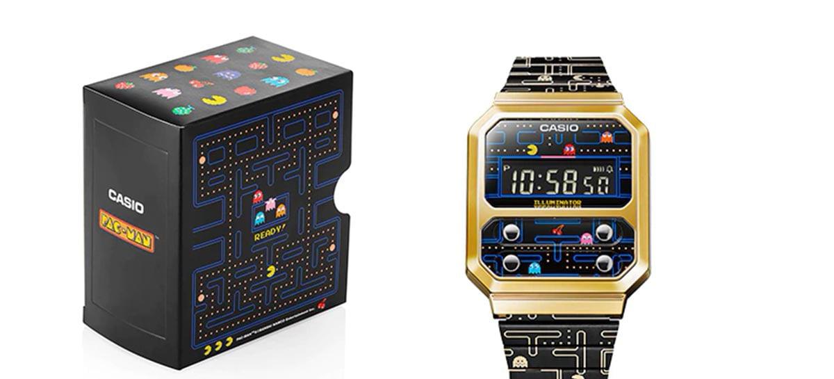 Casio anuncia versão do seu relógio A100 inspirado em Pac-Man