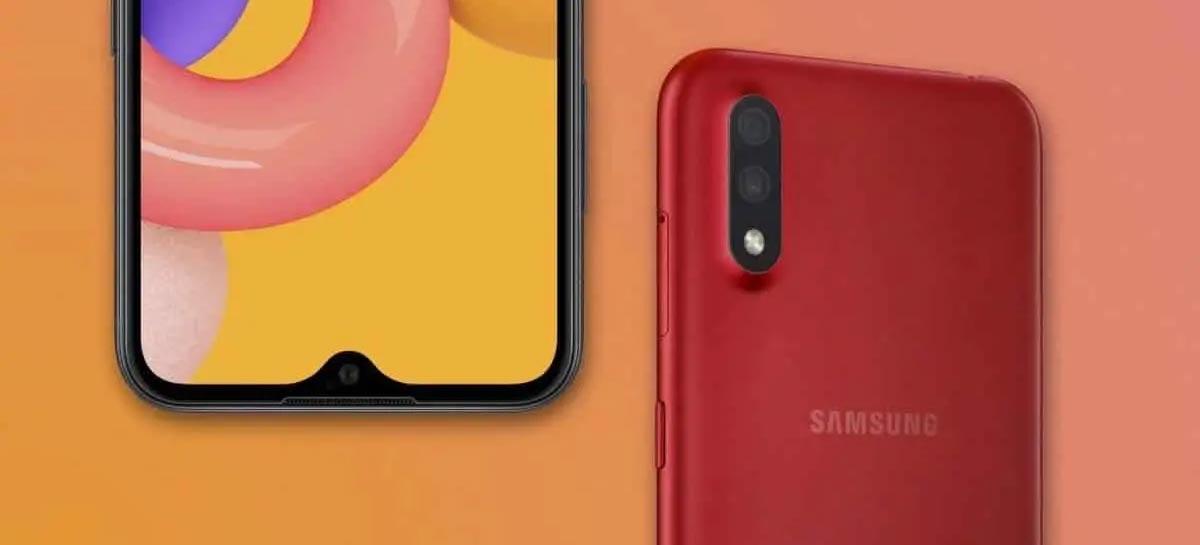Samsung Galaxy M01 tem câmera dupla, bateria de 4000mAh e custa menos de U$200