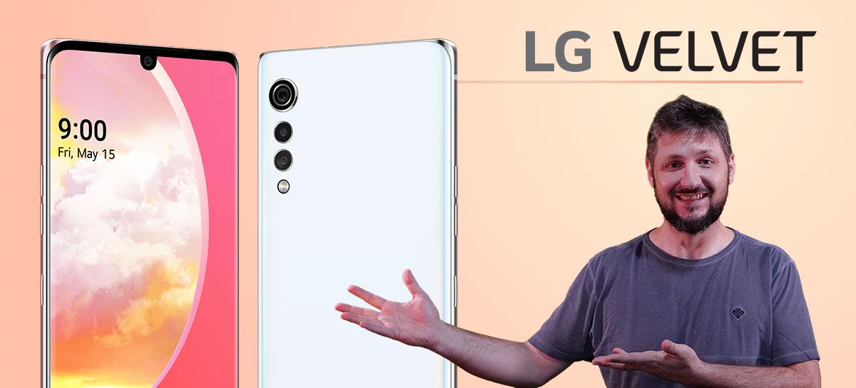 Unboxing do LG Velvet: lindo por fora, mas com Snapdragon 845!?