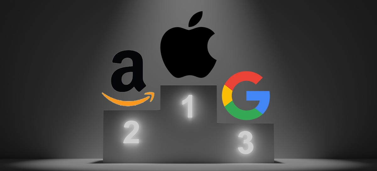 Apple, Amazon e Google lideram ranking das marcas mais valiosas do mundo