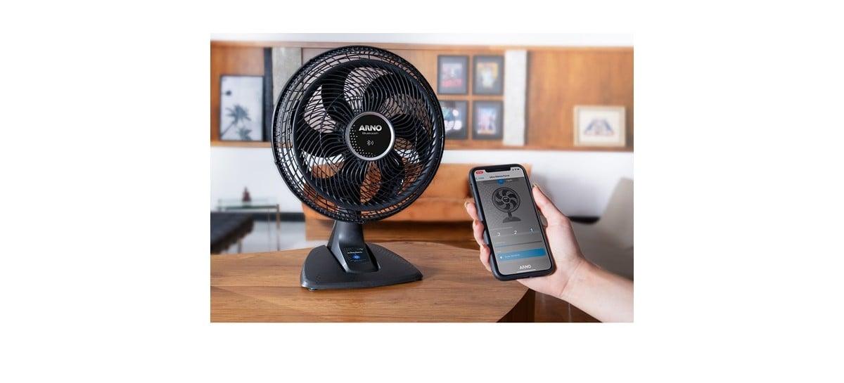 Novo ventilador Ultra Silence Force Arno tem ativamento via Bluetooth pelo celular