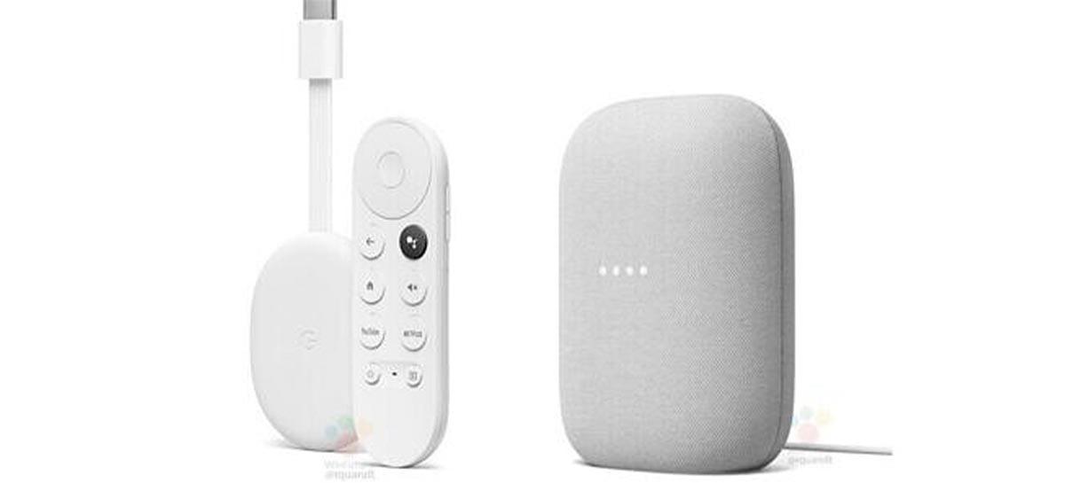 Chromecast com Google TV e alto-falante inteligente Nest Audio vazam novamente