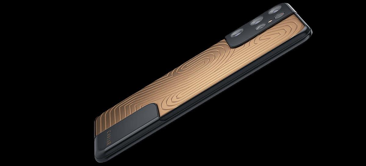 Samsung Galaxy S21 Ultra de ouro 18K custa mais de 400 mil reais