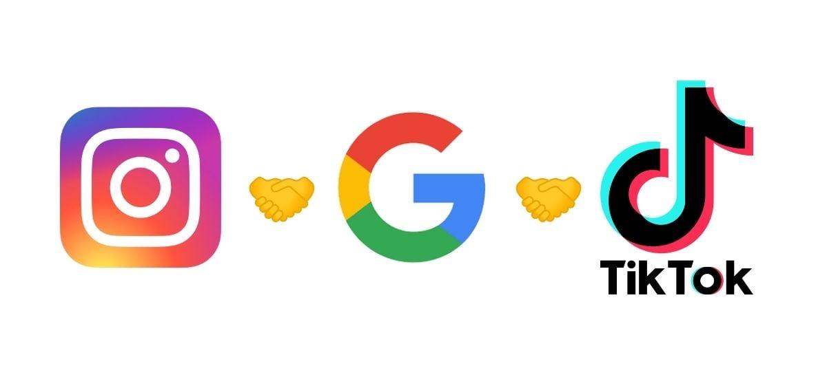 Google negocia com Instagram e TikTok para integrar posts nos resultados de busca