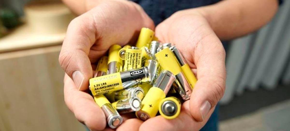 Ikea vai parar de vender pilhas não recarregáveis até outubro de 2021