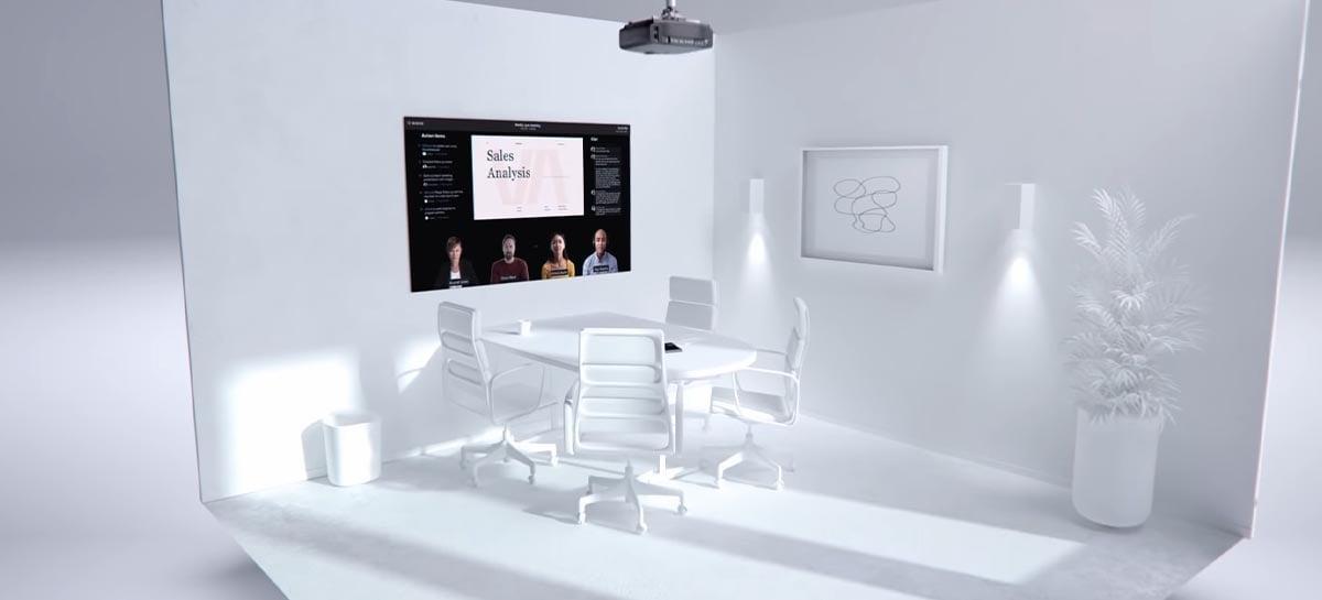 """Microsoft publica vídeo com ideia para nova """"sala de reuniões do futuro"""""""