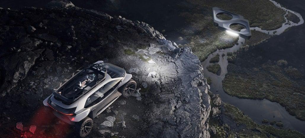 Vídeo mostra de perto o Audi AI Trail que utiliza cinco drones como faróis