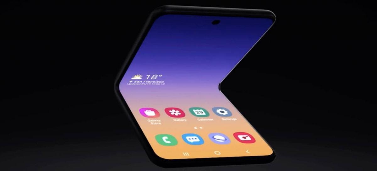 Imagens do possível protótipo dobrável em forma de concha da Samsung são reveladas
