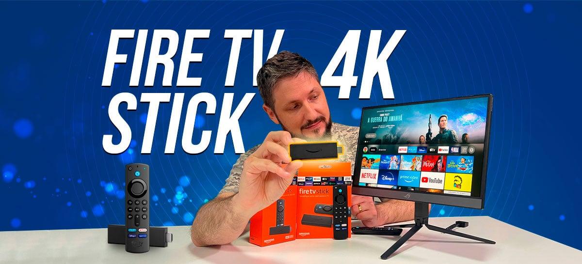 Fire TV stick 4K: streaming de mídia da Amazon transforma sua TV antiga em uma Smart TV