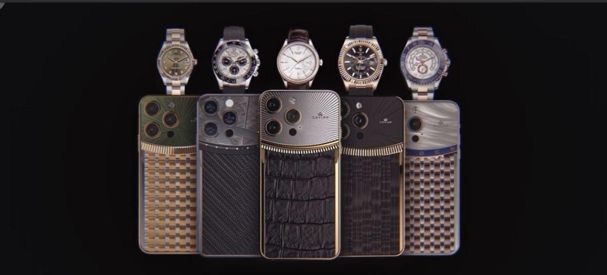 Pura ostentação! iPhones inspirados em Rolex chegam a custar mais de R$ 130 mil