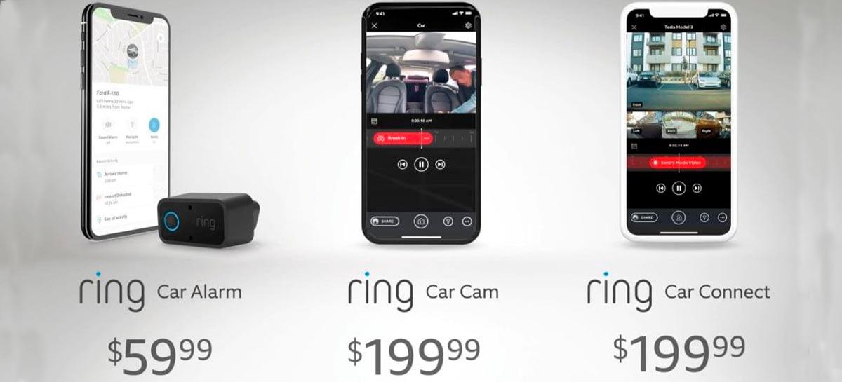 Ring anuncia nova linha de câmeras de segurança para carros