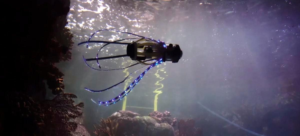 Cientistas constroem robô lula que se move usando um jato d'água
