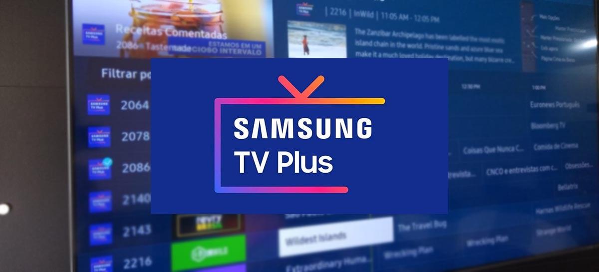 Serviço de streaming Samsung TV Plus ganha mais canais gratuitos
