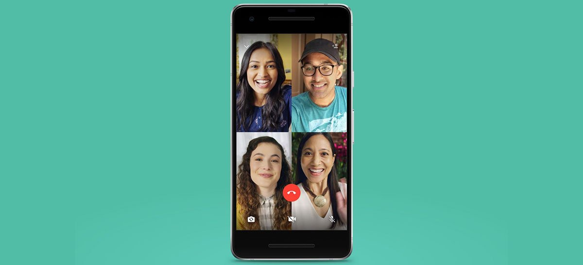 WhatsApp começa a testar chamadas de vídeo com até 8 pessoas