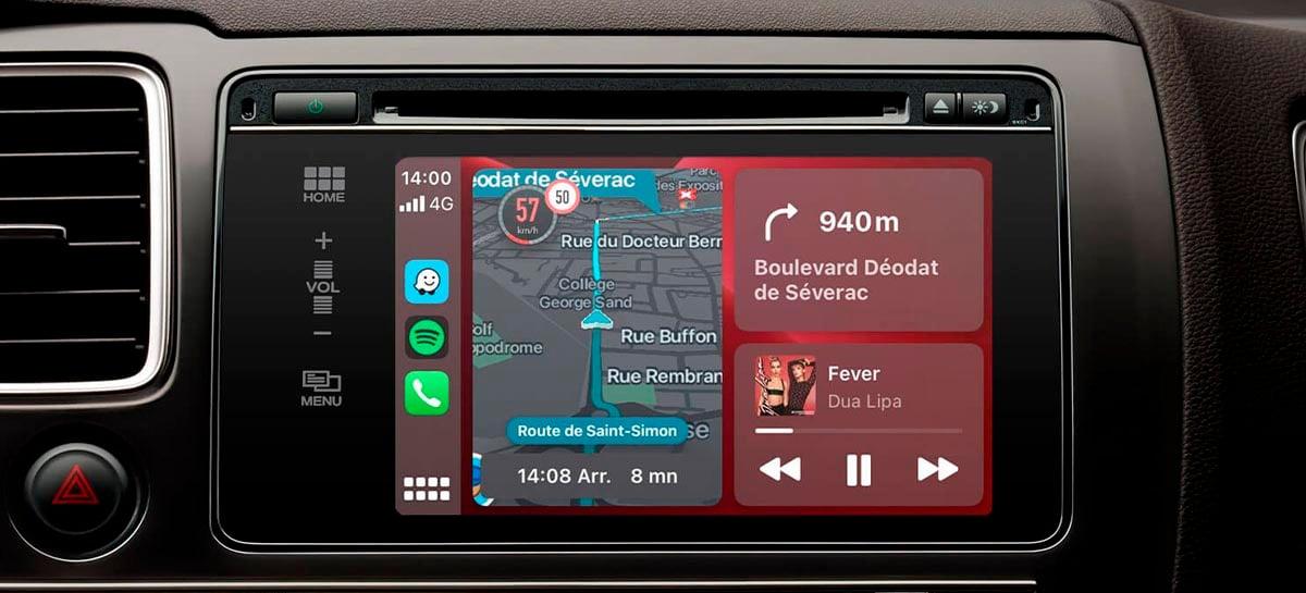 Atualização do Apple Carplay inclui o Waze no painel principal