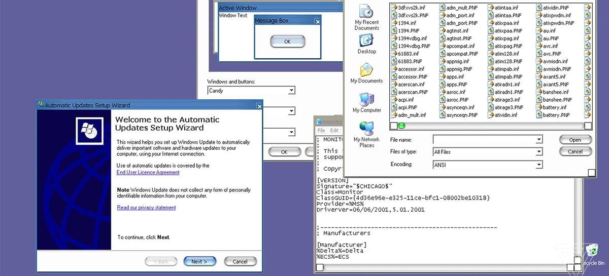 Vazamento mostra tema secreto do Windows XP que o fazia parecer um Mac
