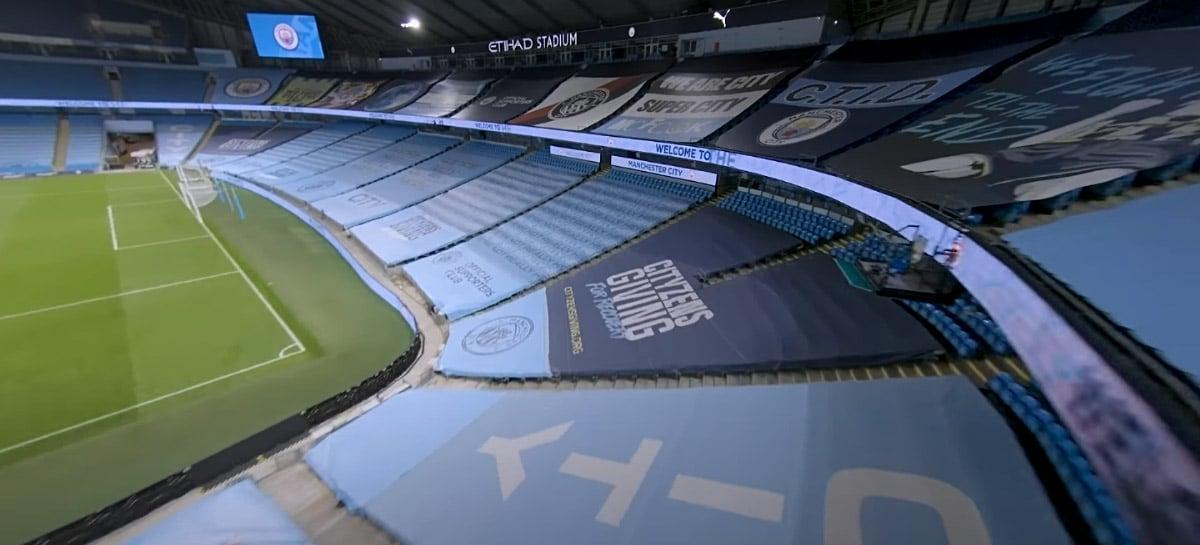 Veja imagens espetaculares do estádio do Manchester City feitas com drone FPV