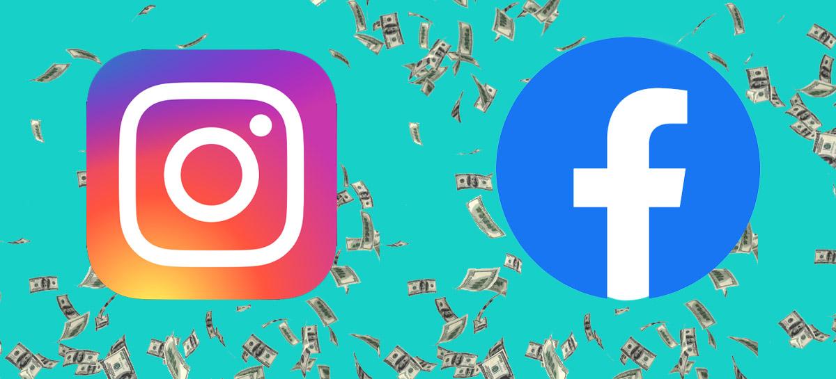 Instagram e Facebook apresentam novos recursos para ganhar dinheiro criando conteúdo