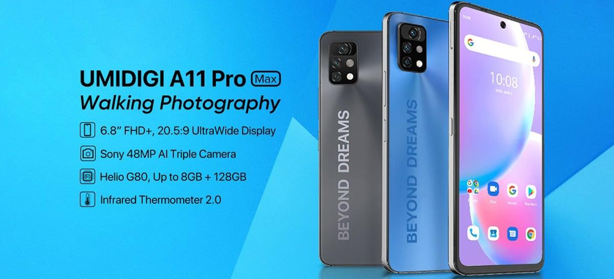 UMIDIGI A11 Pro Max é oficial: câmera de 48 MP e bateria de 5150 mAh a partir de R$ 1,2 mil