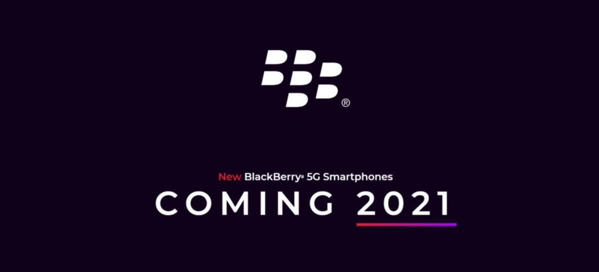 BlackBerry deve voltar ao mercado em 2021 com 5G e teclado físico