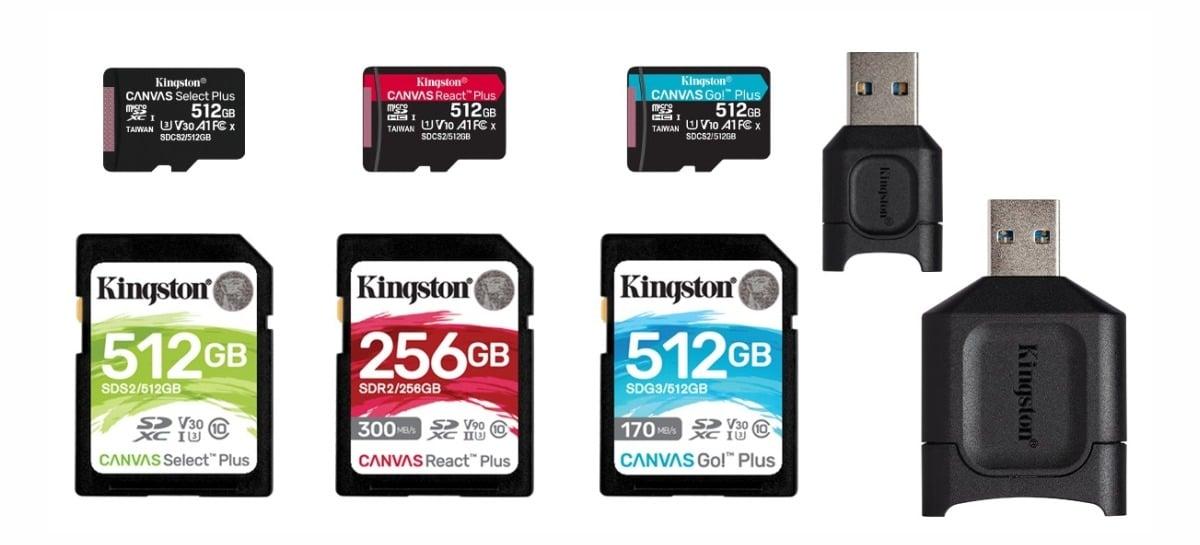 Kingston anuncia atualização da linha de cartões de memória Canvas e leitor MobileLite