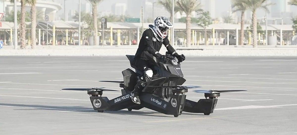 Vídeo mostra queda de motocicleta voadora durante testes em Dubai