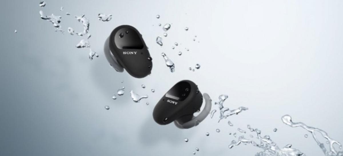 Sony lança fone wireless WF-SP800N, com autonomia de até 26 horas