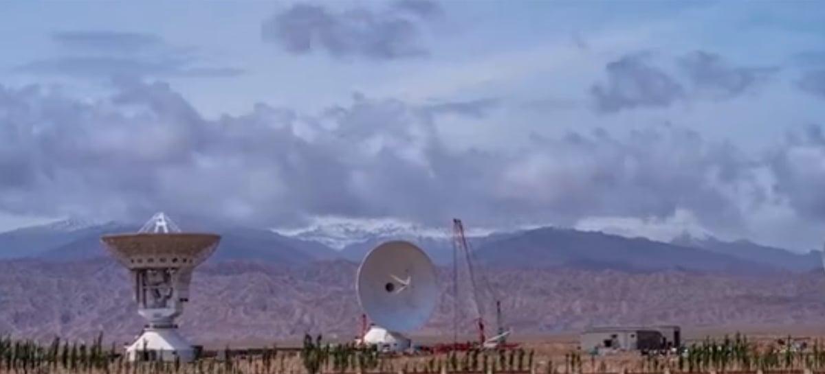 China inicia operações de conjunto de antenas para apoiar suas missões espaciais