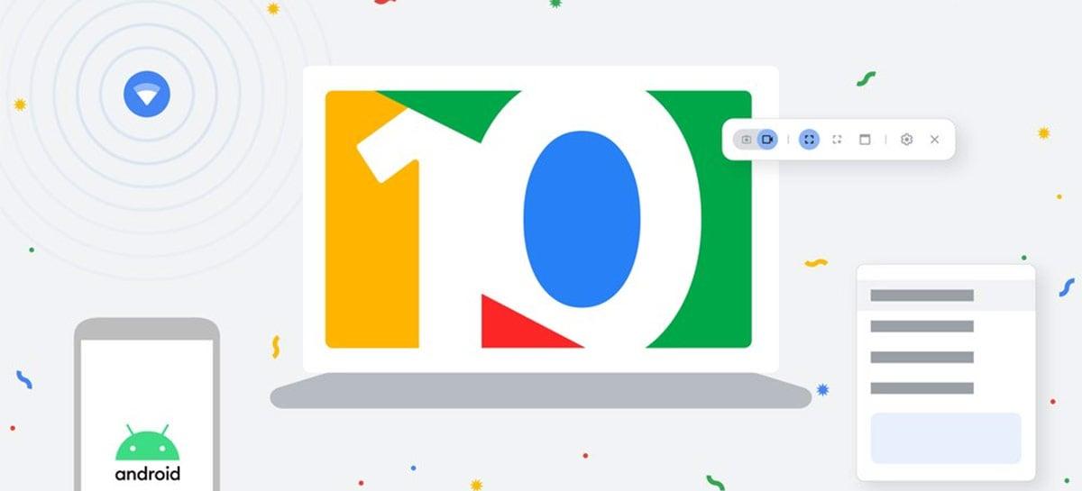 Chrome OS comemora 10 anos com diversos novos recursos, incluindo Phone Hub