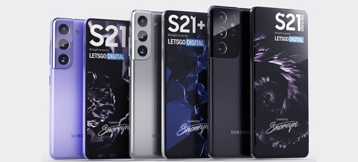 Comercial da nova série Galaxy S21 vaza e apresenta o visual dos modelos
