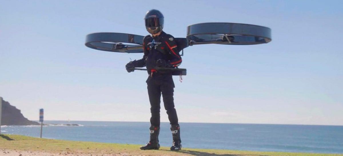 Drone tripulado ou jetpack elétrico? Levante voo com o CopterPack
