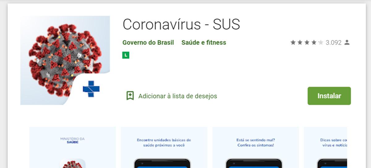 Ministério da saúde lança app com informações sobre o Coronavírus