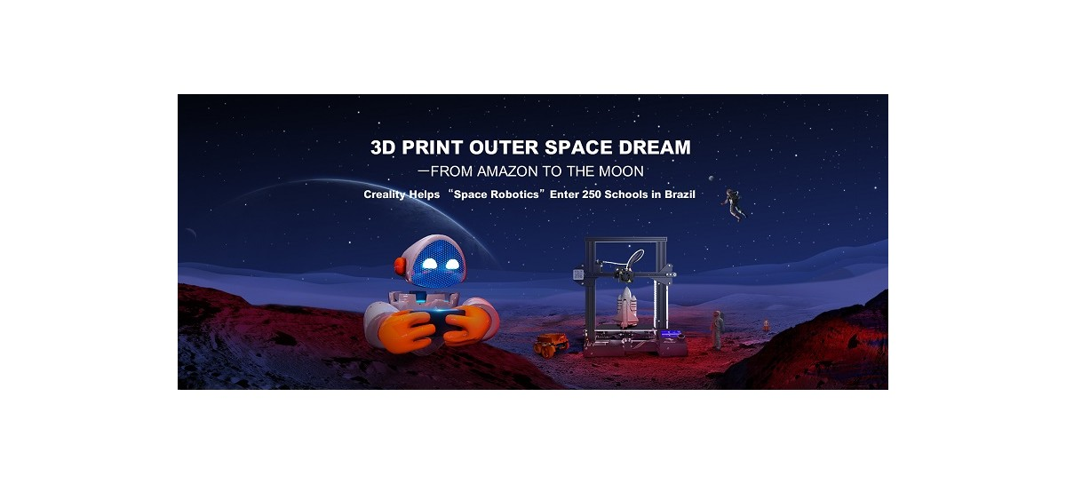 Creality doa 250 impressoras 3D para projeto de robótica espacial no Brasil