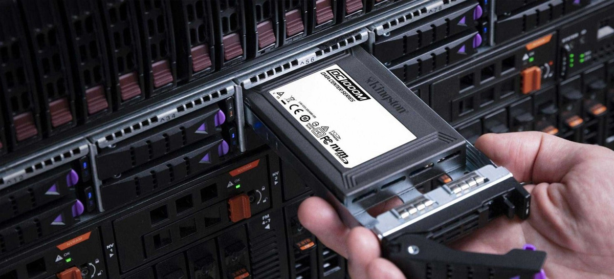 Kingston começa envios do SSD DC1000M de 7.68TB para data centers