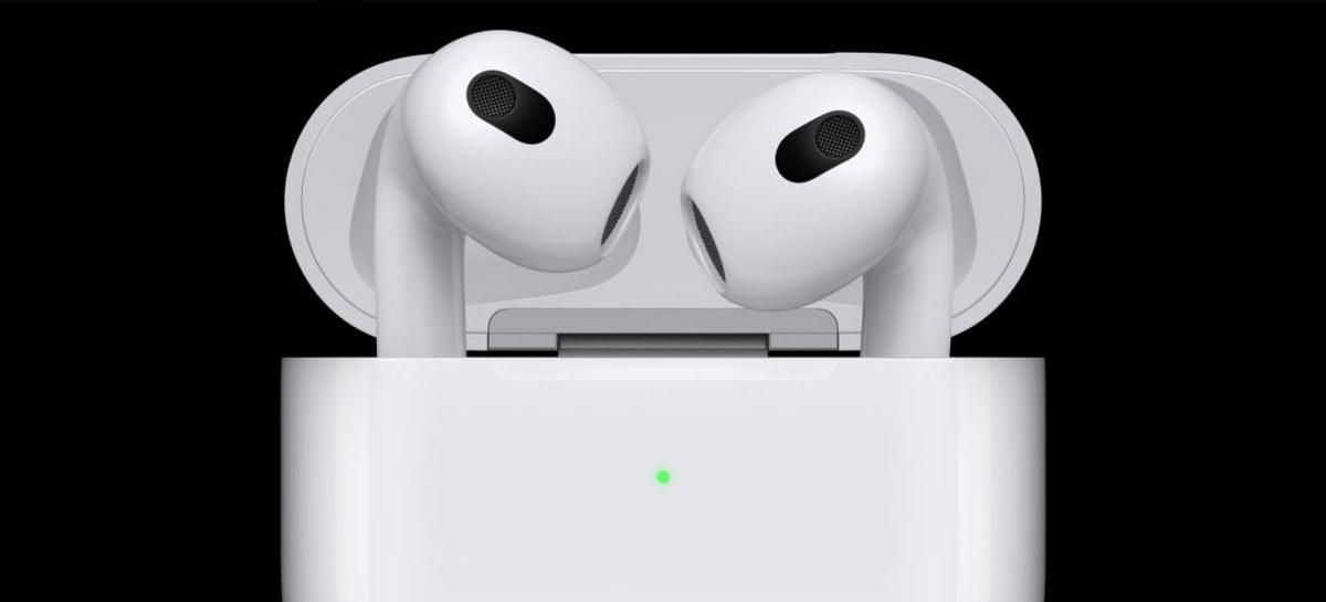 Apple revela terceira geração dos fones AirPods; veja preço e detalhes