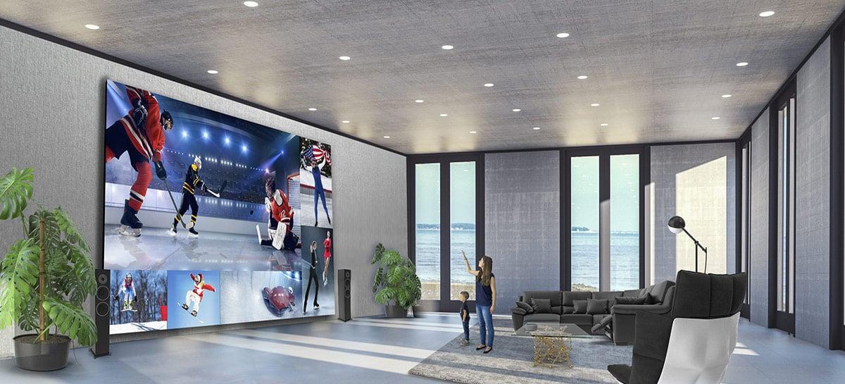 GIGANTE! LG lança Direct View LED TV com tela de 325 polegadas