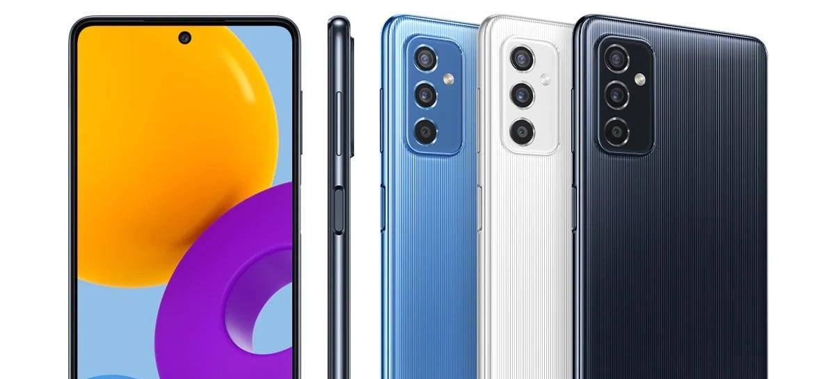 Smartphone Samsung Galaxy M52 5G deve ser o próximo lançamento da empresa no Brasil