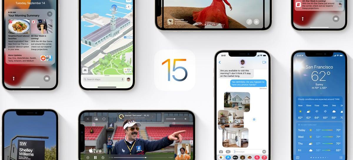 iOS 15 e iPadOS 15 serão lançados no dia 20 de setembro