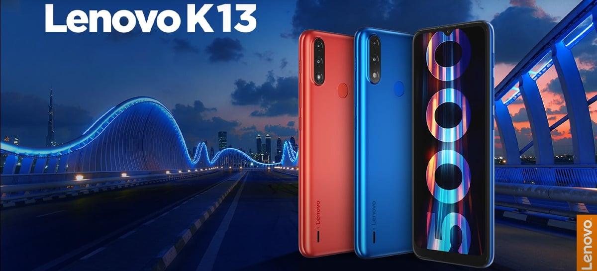 Básico e com Android 10 Go, smartphone Lenovo K13 chega por US$ 105