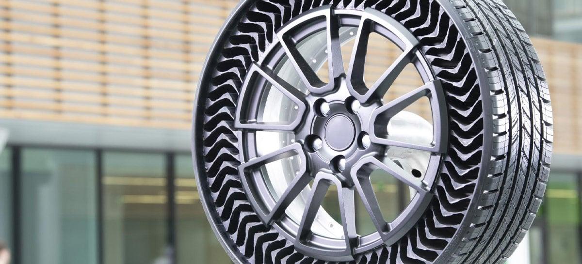 Michelin anuncia data de lançamento do UPTIS, o pneu que não fura