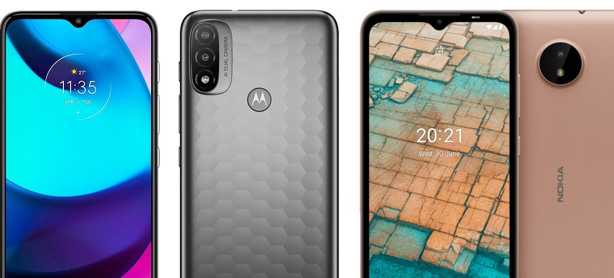 Smartphones Nokia C20 e Motorola E20 são homologados na Anatel e podem ser lançados em breve