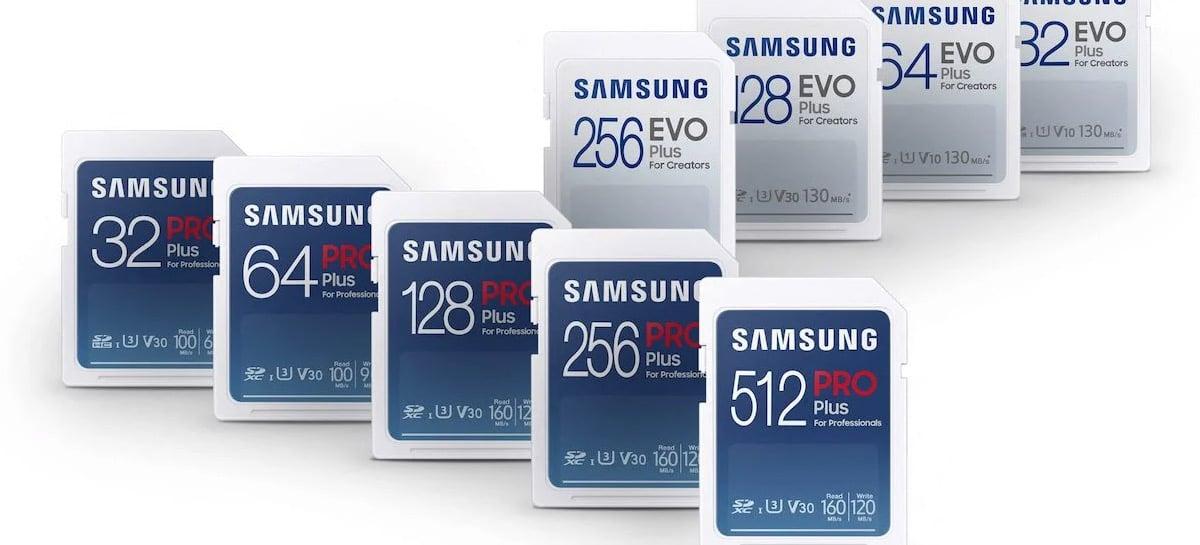 Samsung revela nova linha de cartões SD e MicroSD; veja todos os detalhes
