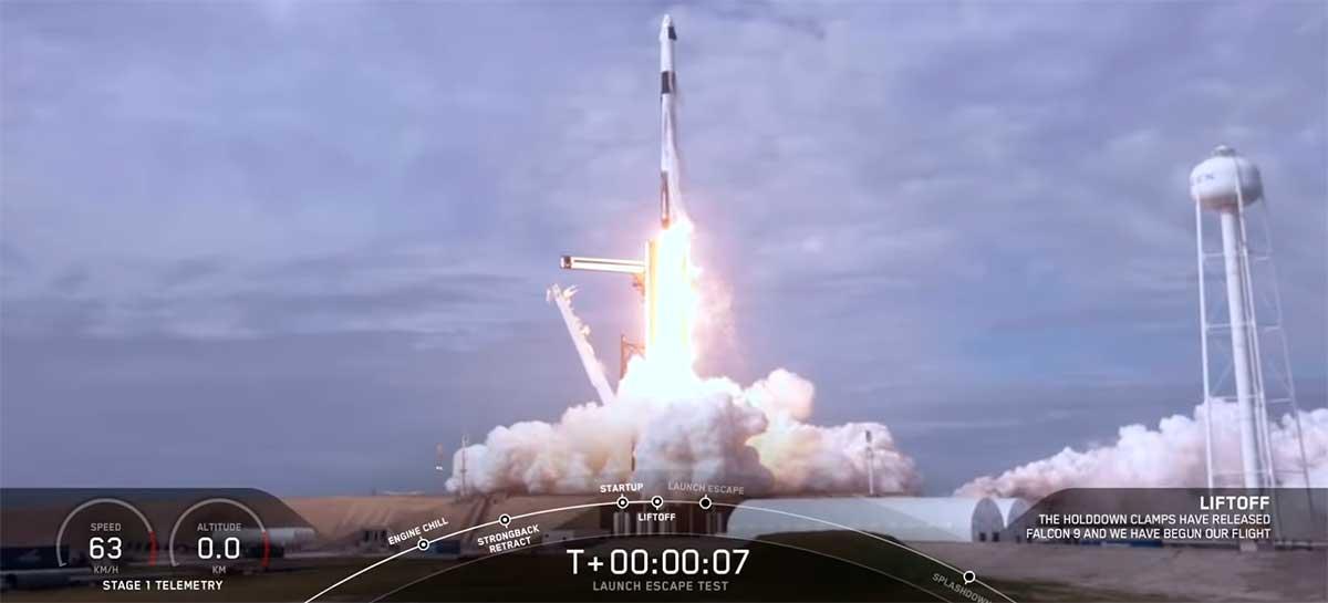 Veja como foi o lançamento e explosão do foguete Falcon 9 em teste de segurança