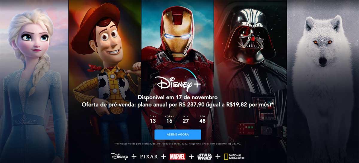 Pré-venda da Disney+ começa hoje com plano anual promocional de R$ 237,90