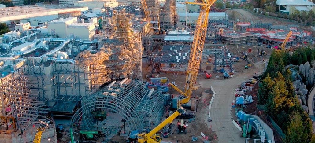 Disney mostra construção da sua expansão com temática Star Wars em vídeo de drone