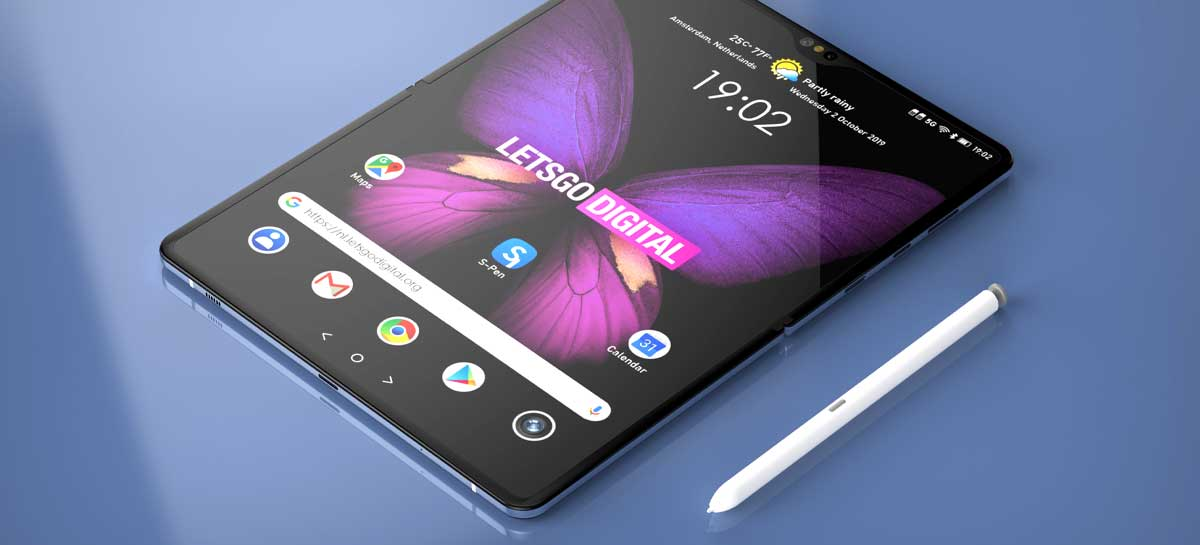 Galaxy Z Fold 3 terá display UTG mais grosso para suportar S-Pen, segundo rumor