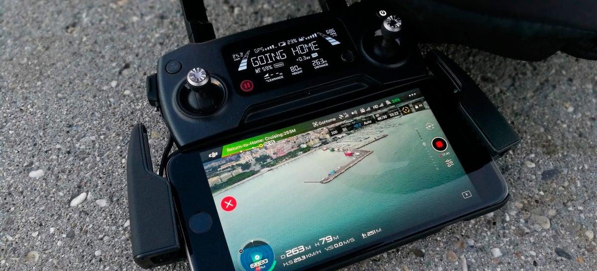 Update do app DJI GO 4 traz novo modo para manter dados de voo só no celular