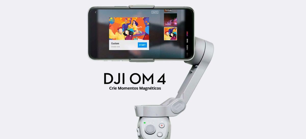 DJI Osmo Mobile 4 é lançado com ActiveTrack 3.0 e sistema magnético para prender celular