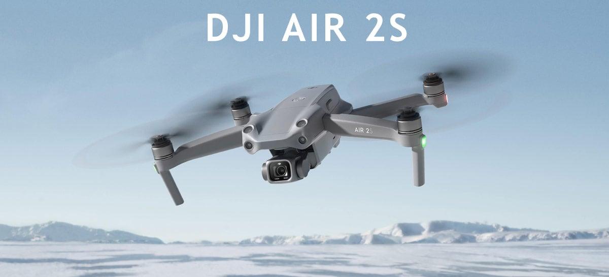 Drone DJI Air 2S é anunciado por US$ 999 com foco em fotos e vídeo