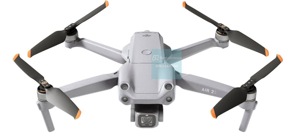 DJI Air 2S: Fotos vazadas confirmam design e tecnologias do drone